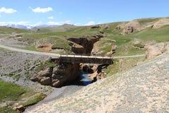 παλαιός ξύλινος γεφυρών στοκ φωτογραφίες με δικαίωμα ελεύθερης χρήσης