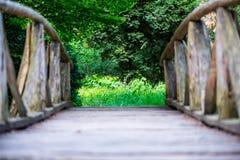 παλαιός ξύλινος γεφυρών Στοκ Εικόνα