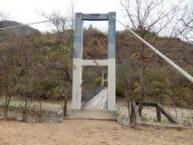 παλαιός ξύλινος γεφυρών στοκ εικόνα με δικαίωμα ελεύθερης χρήσης