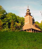 παλαιός ξύλινος εκκλησ&iot Στοκ φωτογραφία με δικαίωμα ελεύθερης χρήσης