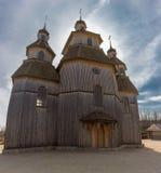 παλαιός ξύλινος εκκλησ&iot Στοκ Εικόνα