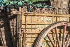 παλαιός ξύλινος κάρρων Στοκ Εικόνα