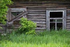 παλαιός ξύλινος καμπινών Στοκ Εικόνα