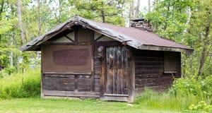 παλαιός ξύλινος καμπινών Στοκ εικόνες με δικαίωμα ελεύθερης χρήσης