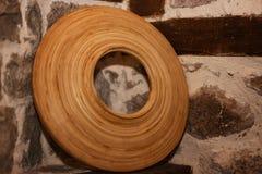 Παλαιός ξύλινος κύκλος σε ένα βουλγαρικό σπίτι Rhodope Στοκ Εικόνες