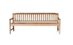 Παλαιός ξύλινος πάγκος που απομονώνεται στο λευκό στοκ εικόνα με δικαίωμα ελεύθερης χρήσης