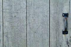 παλαιός ξύλινος πορτών Στοκ Εικόνες