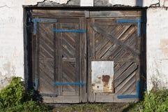 παλαιός ξύλινος πυλών οριζόντιος Στοκ φωτογραφίες με δικαίωμα ελεύθερης χρήσης