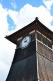 Παλαιός ξύλινος πύργος ρολογιών, στην πόλη Ιαπωνία Izushi Στοκ Εικόνες