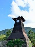 Παλαιός ξύλινος πύργος ρολογιών, στην πόλη Ιαπωνία Izushi Στοκ Εικόνα