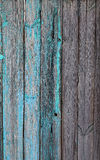 Παλαιός ξύλινος φράκτης με το μπλε shabby χρώμα στοκ εικόνα με δικαίωμα ελεύθερης χρήσης