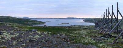 Παλαιός ξύλινος φράκτης στη χερσόνησο κόλα Στοκ εικόνες με δικαίωμα ελεύθερης χρήσης