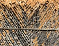 Παλαιός ξύλινος χωμάτινος τοίχος, σύσταση υποβάθρου στοκ φωτογραφία με δικαίωμα ελεύθερης χρήσης