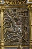 Παλαιός ορθόδοξος μισθός μετάλλων εικονιδίων στοκ εικόνα με δικαίωμα ελεύθερης χρήσης