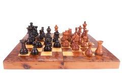 Παλαιός πίνακας σκακιού και αριθμοί Στοκ εικόνες με δικαίωμα ελεύθερης χρήσης