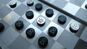 Παλαιός πίνακας σκακιού μετάλλων Στοκ φωτογραφία με δικαίωμα ελεύθερης χρήσης