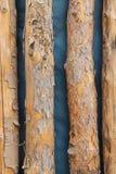 Παλαιός που φοριέται υπόβαθρο συνδέεται ένα μπλε Στοκ φωτογραφία με δικαίωμα ελεύθερης χρήσης