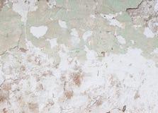 Παλαιός πράσινος χωμάτινος τοίχος με το χρώμα αποφλοίωσης στοκ φωτογραφία