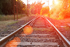 Παλαιός προαστιακός σιδηρόδρομος στοκ φωτογραφία με δικαίωμα ελεύθερης χρήσης