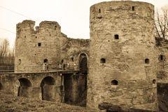 Παλαιός προσδιορισμός φρουρίων Koporskaya Στοκ εικόνα με δικαίωμα ελεύθερης χρήσης