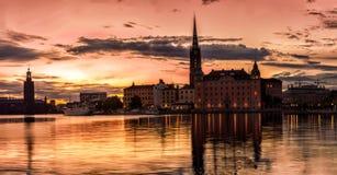 Παλαιός πόλης ορίζοντας Stockolm Στοκ Εικόνα