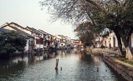 Παλαιός-πόλη του tongli, αρχαία χωριά σε Suzhou Στοκ Εικόνες
