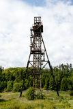 Παλαιός πύργος άξονων ορυχείου - Banska Stiavnica - Σλοβακία στοκ φωτογραφίες με δικαίωμα ελεύθερης χρήσης