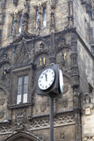 Παλαιός πύργος γεφυρών του πόλης Charles, ρολόι οδών, Pague, τσεχικό Republc Στοκ φωτογραφία με δικαίωμα ελεύθερης χρήσης