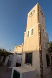 Παλαιός πύργος ρολογιών στην πόλη Oia, νησί Santorini, Thira, Ελλάδα Στοκ φωτογραφίες με δικαίωμα ελεύθερης χρήσης
