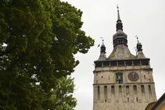 Παλαιός πύργος ρολογιών, Sighisoara, Ρουμανία Στοκ Φωτογραφία