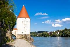 Παλαιός πύργος στο Πάσσαου, Γερμανία Στοκ εικόνες με δικαίωμα ελεύθερης χρήσης