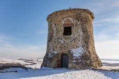 Παλαιός πύργος το χειμώνα στοκ εικόνες