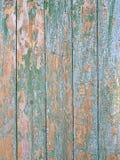 Παλαιός ραγισμένος εξασθενισμένος κυανός φράκτης Στοκ φωτογραφίες με δικαίωμα ελεύθερης χρήσης