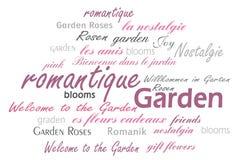 Ρομαντικός κήπος ελεύθερη απεικόνιση δικαιώματος