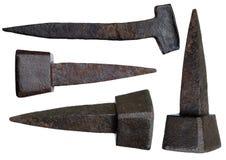 παλαιός σκουριασμένος καρφιών Στοκ φωτογραφία με δικαίωμα ελεύθερης χρήσης