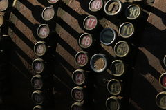 Παλαιός σκουριασμένος κατάλογος μετρητών Στοκ Φωτογραφίες
