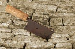 Παλαιός σκουριασμένος μπαλτάς Στοκ Εικόνες