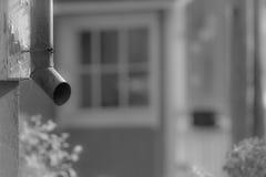 Παλαιός σκουριασμένος σωλήνας αποχέτευσης Στοκ Εικόνα