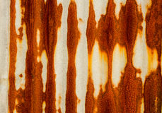 Παλαιός σκουριασμένος του φράκτη φύλλων ψευδάργυρου είναι grunge υπόβαθρο Στοκ Εικόνα