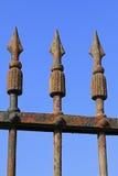 Παλαιός σκουριασμένος φράκτης Στοκ φωτογραφία με δικαίωμα ελεύθερης χρήσης