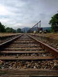 Παλαιός σταθμός τρένου με τα sheeps στο νότο της Χιλής Στοκ Εικόνες