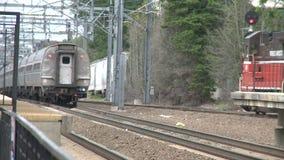 Παλαιός σταθμός τρένου Saybrook (2 4) απόθεμα βίντεο