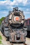 Παλαιός στενός επάνω λεπτομέρειας τραίνων σιδήρου μηχανών ατμού Στοκ φωτογραφία με δικαίωμα ελεύθερης χρήσης