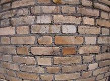 Παλαιός τοίχος από τα γκρίζα και καφετιά τούβλα Στοκ Εικόνες