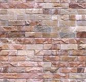 Παλαιός τοίχος ασβεστόλιθων άνευ ραφής, τούβλο Στοκ Εικόνες