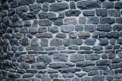 Παλαιός τοίχος κάστρων τη νύχτα Στοκ εικόνα με δικαίωμα ελεύθερης χρήσης