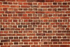 Παλαιός τοίχος με τα κόκκινα τούβλα στοκ φωτογραφία
