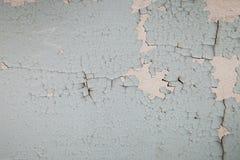 Παλαιός τοίχος με το ραγισμένο χρώμα Στοκ εικόνες με δικαίωμα ελεύθερης χρήσης
