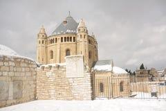 παλαιός τοίχος μιναρών της Ιερουσαλήμ πόλεων εξωτερικός Στοκ φωτογραφία με δικαίωμα ελεύθερης χρήσης