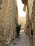 παλαιός τοίχος μιναρών της Ιερουσαλήμ πόλεων εξωτερικός Στοκ Εικόνες